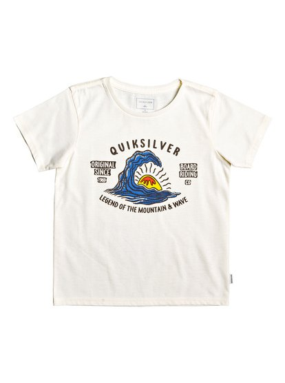 Happy Peaks - T-Shirt for Boys 2-7 - White - Quiksilver