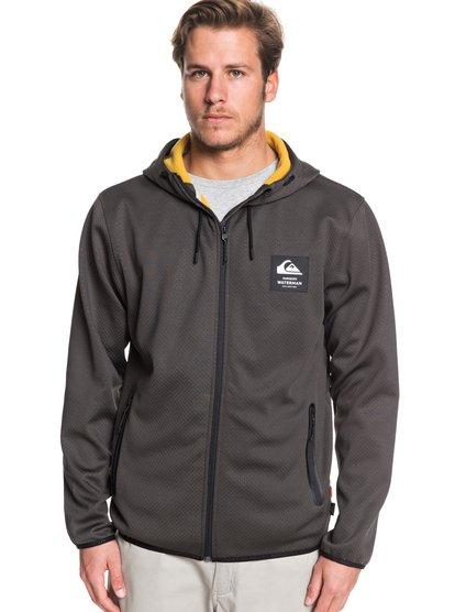 Waterman Starrunner - Sweat à capuche zippé en mesh pour Homme - Noir - Quiksilver