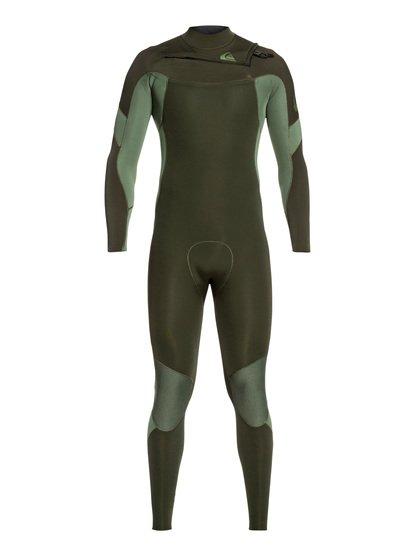4/3mm Syncro - Combinaison GBS zip poitrine pour Homme - Marron - Quiksilver