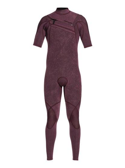 2/2mm Highline Ltd Monochrome - Combinaison Chest Zip manches courtes pour Homme - Rose - Quiksilver