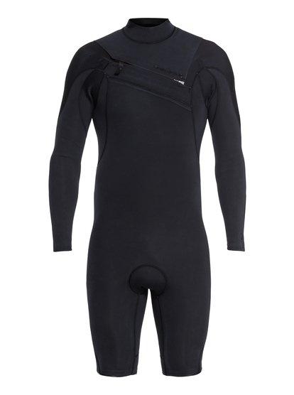 2/2mm Highline Limited - Springsuit manches longues zip poitrine pour Homme - Noir - Quiksilver