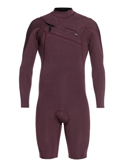 2/2mm Highline Limited - Springsuit manches longues zip poitrine pour Homme - Rose - Quiksilver