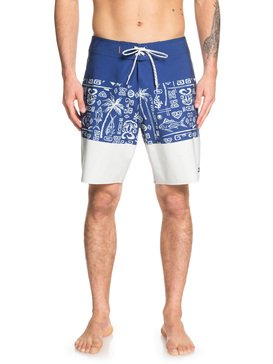 퀵실버 수영복 트렁크 보드숏 하의 Quiksilver Waterman Liberty Triblock 19 Boardshorts
