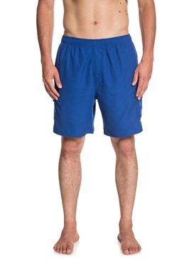 퀵실버 수영복 트렁크 보드숏 하의 Quiksilver Waterman Balance 18 Volleys,MONACO BLUE (byc0)