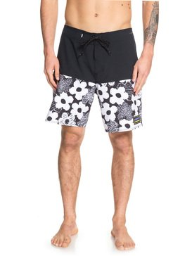 퀵실버 수영복 트렁크 보드숏 하의 Quiksilver Highline Garden Bed 18 Boardshorts,WHITE (wbb6)