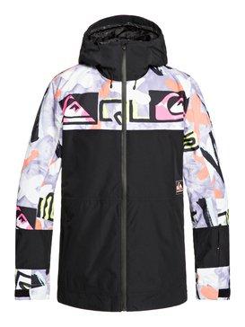 퀵실버 스노우 자켓 Quiksilver Sycamore Anniversary - Snow Jacket,BLACK WARPAINT (kvm1)
