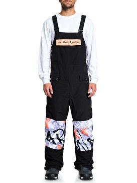 퀵실버 스노우 팬츠 Quiksilver Anniversary - Snow Bib Pants,BLACK (kvj0)