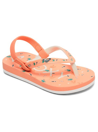 Pebbles - Chanclas para Bebés - Naranja - Roxy