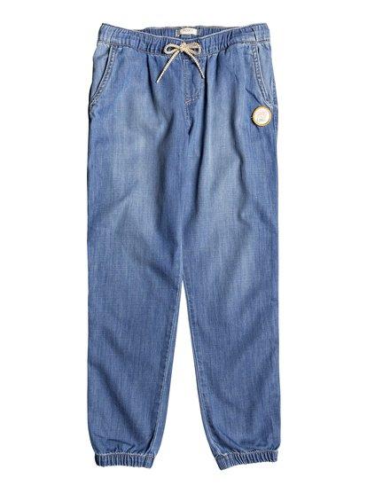 Las Chicas - Pantalón de Chándal Vaquero para Chicas 8-16 - Azul - Roxy
