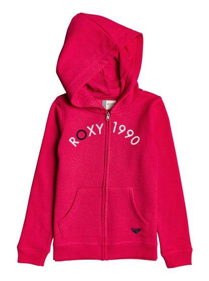 Love My Puppy - Sweat à capuche zippé pour Fille 8-16 ans - Rose - Roxy