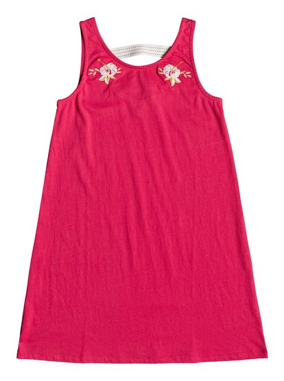 Leaves Movement - Vestido sin Mangas para Chicas 8-16 - Rosa - Roxy