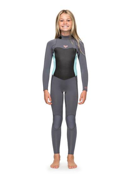 4/3mm Syncro Series - Traje de Surf GBS con Cremallera en la Espalda para Chicas 8-16 - Verde - Roxy