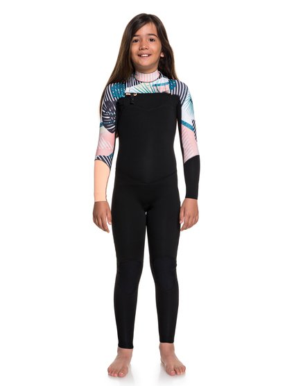 3/2mm POP Surf - Combinaison de surf zip poitrine pour Fille 8-16 ans - Noir - Roxy