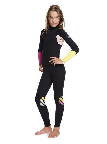 3/2mm POP Surf - Traje de Surf con Cremallera en el Pecho para Chicas 8-16 - Negro - Roxy