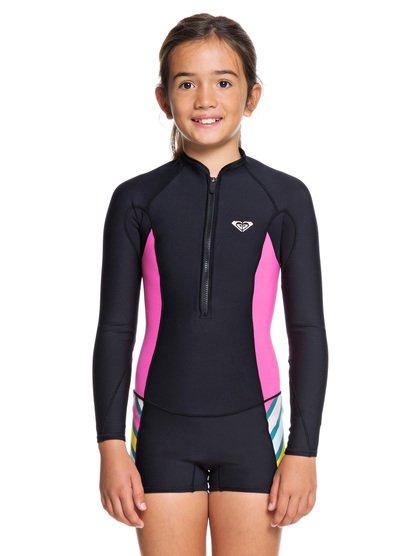 1.5mm POP Surf - Springsuit manches longues front zip pour Fille 8-16 ans - Noir - Roxy