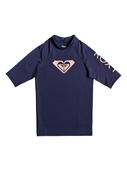 Whole Hearted - Licra de Manga Corta con Protección Solar UPF 50 para Chicas 8-16 - Azul - Roxy