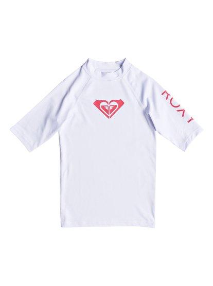 Whole Hearted - Licra de Manga Corta con Protección Solar UPF 50 para Chicas 8-16 - Blanco - Roxy