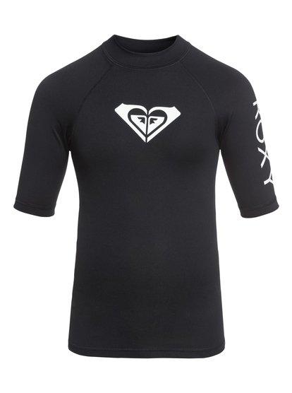 Whole Hearted - Lycra manches courtes UPF 50 pour Fille 8-16 ans - Noir - Roxy