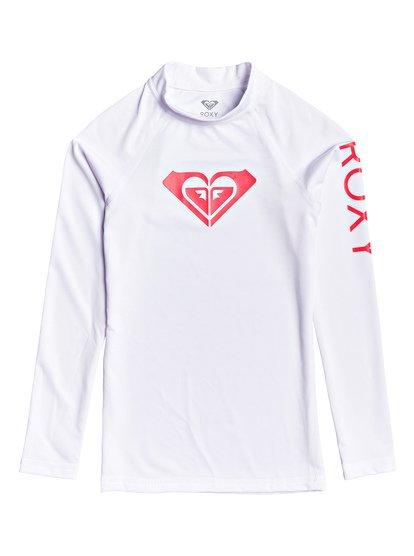 Whole Hearted - Licra de Manga Larga con Protección Solar UPF 50 para Chicas 8-16 - Blanco - Roxy
