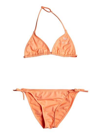 Surfing Free - Conjunto de Bikini Tiki Tri para Chicas 8-16 - Rosa - Roxy
