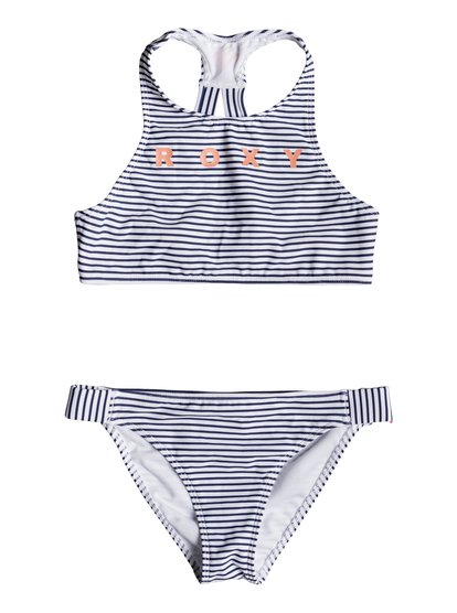 Surfing Free - Conjunto de Bikini Crop Top para Chicas 8-16 - Azul - Roxy