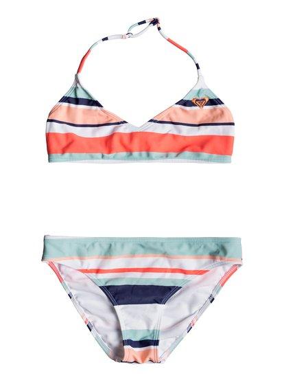 Happy Spring - Ensemble de bikini bralette pour Fille 8-16 ans - Blanc - Roxy