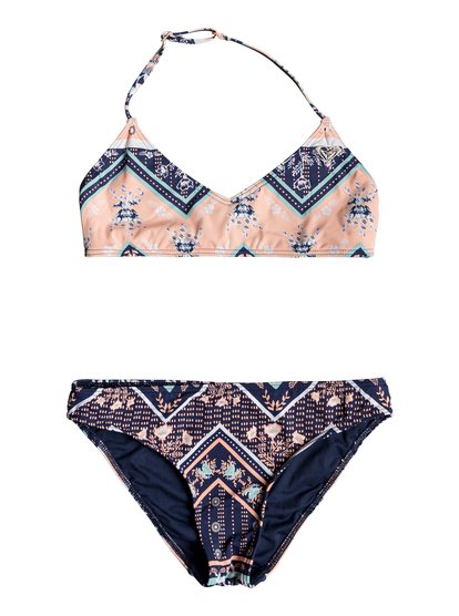 Heart In The Waves - Conjunto de Bikini Triangular Bralette para Chicas 8-16 - Azul - Roxy