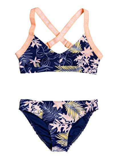 Bikini Point - Conjunto de Bikini Triangular Deportivo para Chicas 8-16 - Azul - Roxy