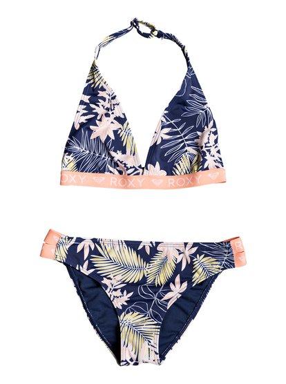 Bikini Point - Conjunto de Bikini Deportivo para Chicas 8-16 - Azul - Roxy