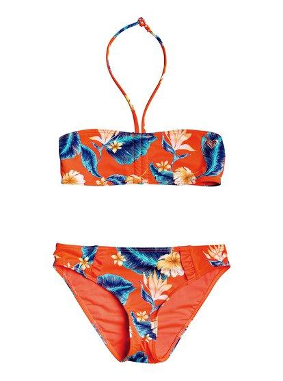 Seaside Lover - Ensemble de bikini bandeau pour Fille 8-16 ans - Rose - Roxy