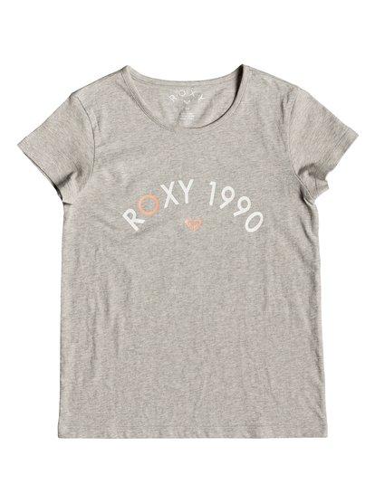 Roses In The Rain - Camiseta para Chicas 8-16 - Gris - Roxy