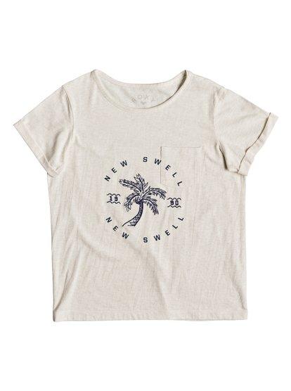 Flashes Of Light B - Camiseta para Chicas 8-16 - Blanco - Roxy