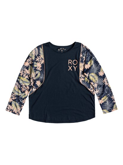 Olas Del Mar - Camiseta de Manga Larga para Chicas 8-16 - Azul - Roxy