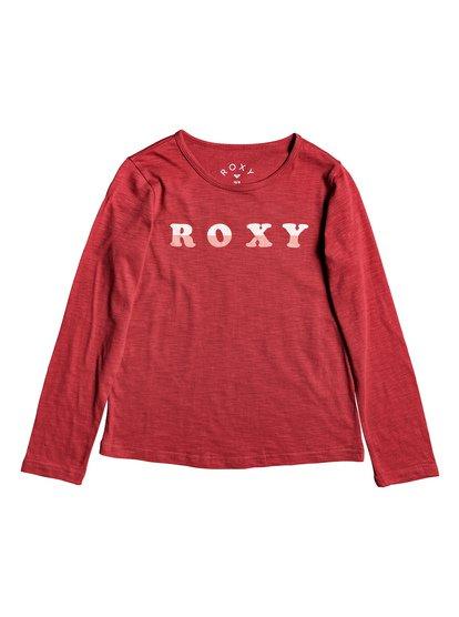 Bananas Party - Camiseta de Manga Larga para Chicas 4-16 - Rojo - Roxy