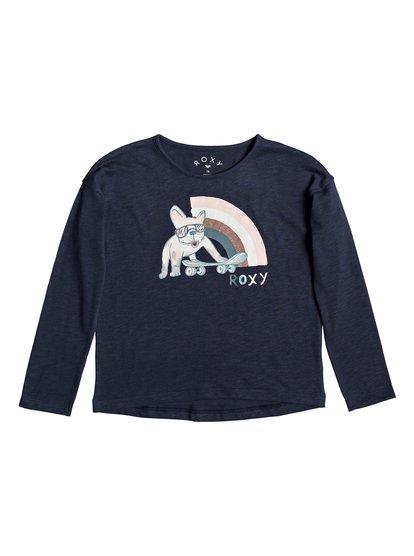 Only Time A - Camiseta de Manga Larga para Chicas 4-16 - Azul - Roxy