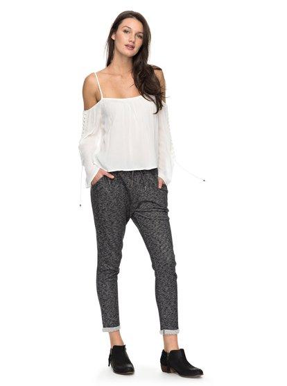 Trippin - Pantalones de jogging de tiro caído para Mujer - Negro - Roxy