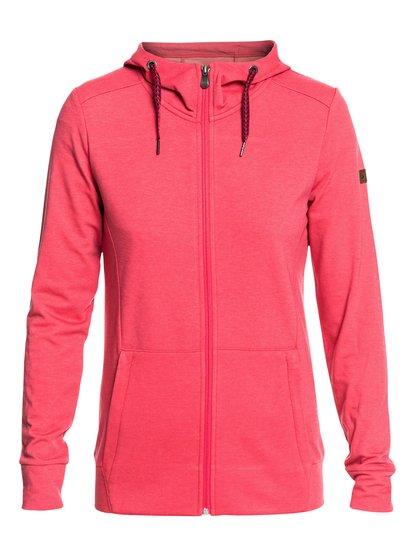 Delta - Sudadera de diseño técnico con capucha y cremallera para Mujer - Rosa - Roxy