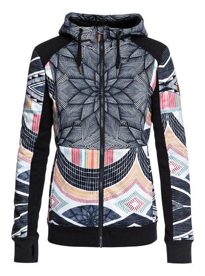 Frost - Sudadera de diseño técnico con capucha y cremallera para Mujer - Negro - Roxy