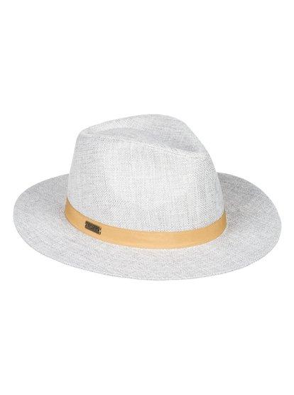 Spring Daze - Sombrero Fedora de Lino para Mujer - Gris - Roxy
