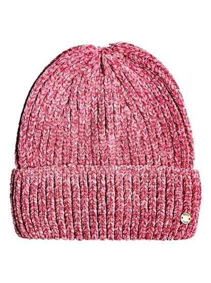 Collect Moment - Bonnet en chenille pour Femme - Rose - Roxy