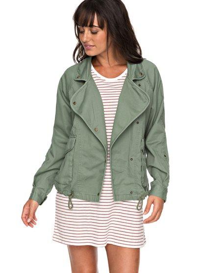 Perfect Spot - Chaqueta Militar para Mujer - Verde - Roxy