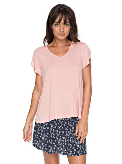 All About Sun - Top de Manga Corta para Mujer - Rosa - Roxy