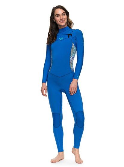 4/3mm Syncro - Traje de Surf GBS con Cremallera en el Pecho para Mujer - Azul - Roxy