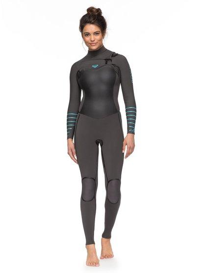 4/3mm Syncro Plus - Traje de Surf con Cremallera en el Pecho para Mujer - Gris - Roxy