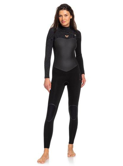 4/3mm Performance - Traje de surf con cremallera en el pecho para Mujer - Negro - Roxy