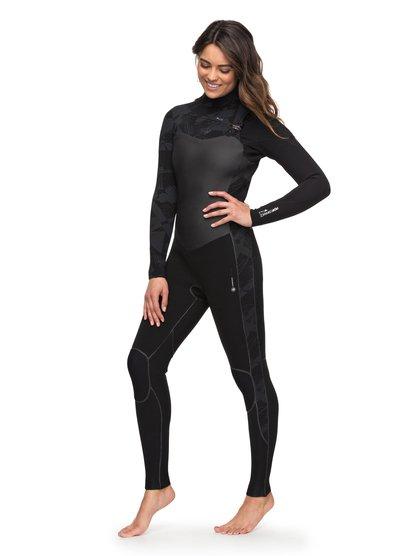 4/3mm Performance - Combinaison zip poitrine pour Femme - Noir - Roxy