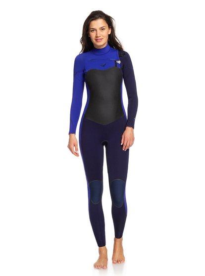4/3mm Performance - Combinaison zip poitrine pour Femme - Bleu - Roxy