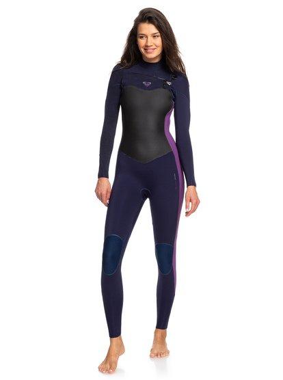 4/3mm Performance - Traje de surf con cremallera en el pecho para Mujer - Azul - Roxy