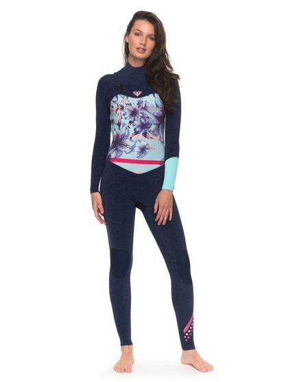 3/2mm POP Surf - Traje de surf con cremallera en el pecho para Mujer - Azul - Roxy