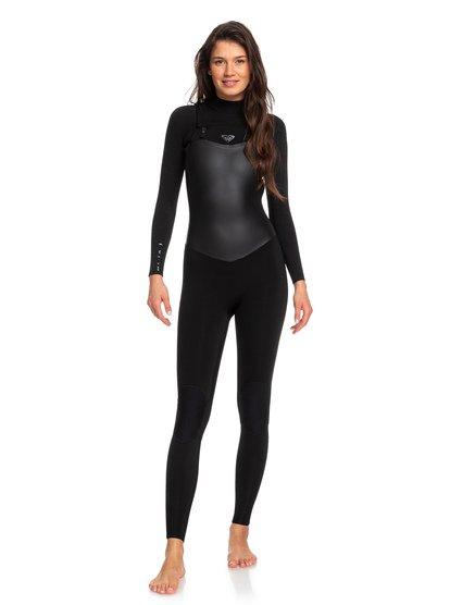 3/2mm Satin - Combinaison de surf zip poitrine pour Femme - Noir - Roxy